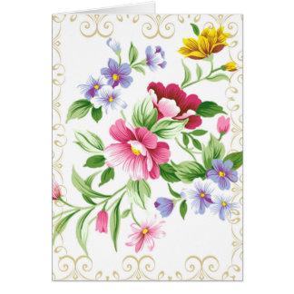 Cartão Elogie o senhor Floral PERSONALIZAÇÃO