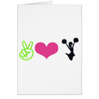 Cartão Elogio do amor da paz