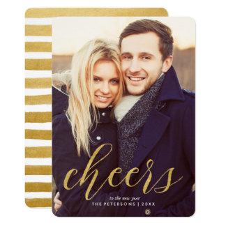 Cartão Elogios à foto do ano novo