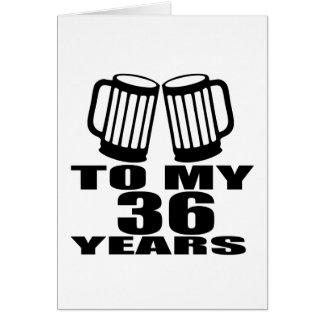 Cartão Elogios a meus 36 anos do aniversário