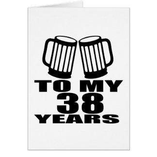 Cartão Elogios a meus 38 anos do design do aniversário
