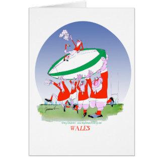 Cartão elogios do rugby de galês, fernandes tony