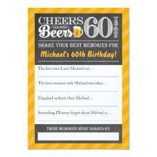 Cartão Elogios e cervejas a 60 anos • Compartilhe de um