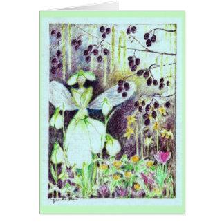 """Cartão Elve """"Galanthus """" de Snowdrop"""