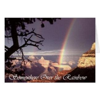 Cartão Em algum lugar sobre o arco-íris