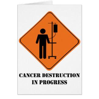 Cartão em andamento da destruição do cancer