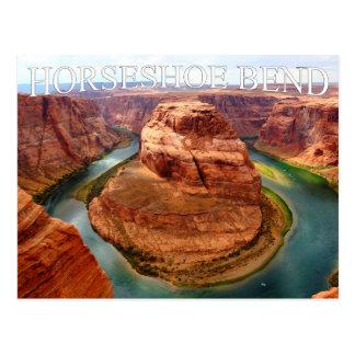 Cartão em ferradura da garganta do vale da arizona