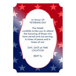 Cartão Em honra do partido do dia de veteranos convide
