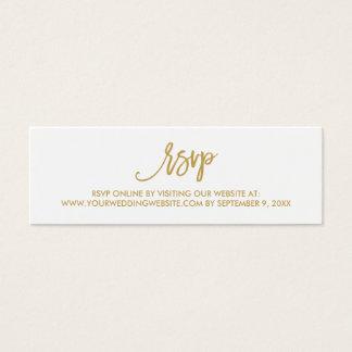 Cartão em linha Wedding indicado por letras da mão