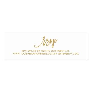 Cartão em linha Wedding indicado por letras da mão Cartão De Visita Skinny