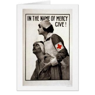 Cartão Em nome do compaixão dê!