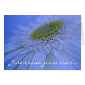 Cartão Em nossas orações…