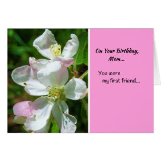 Cartão Em seu aniversário, mamã