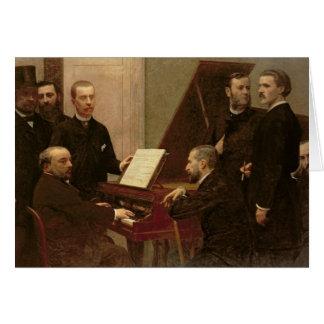 Cartão Em torno do piano, 1885