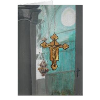 Cartão Em um artigo 1 da igreja