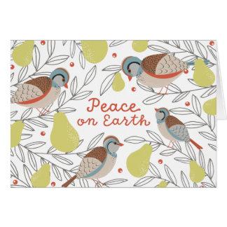 Cartão Em uma árvore de pera