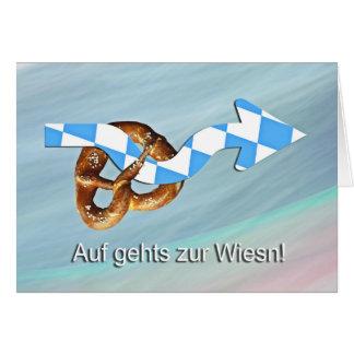 Cartão Em vai à Wiesn