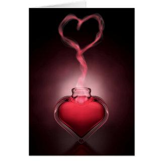 Cartão Emanações da poção e do coração de amor