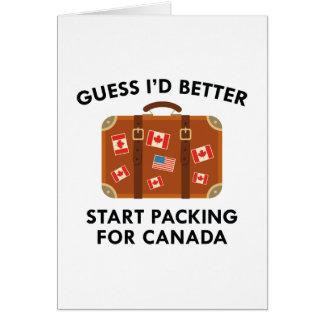 Cartão Embalagem para Canadá
