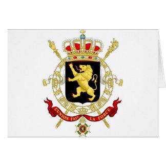 Cartão Emblema belga - brasão de Bélgica