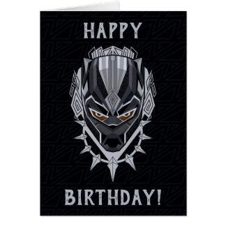 Cartão Emblema da cabeça da pantera preta de pantera