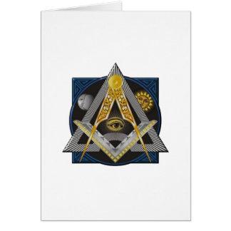 Cartão Emblema da maçonaria
