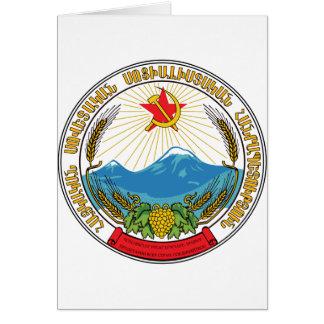 Cartão Emblema da república socialista soviética arménia
