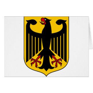 Cartão emblema de Alemanha