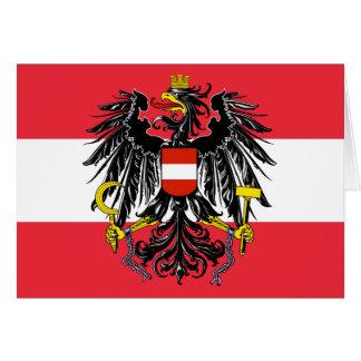 Cartão emblema de Áustria