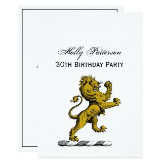 Cartão Emblema ereto C da crista do leão heráldico