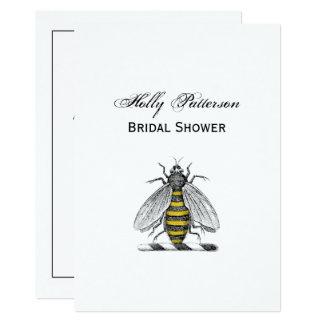 Cartão Emblema heráldico formal C da brasão da abelha do