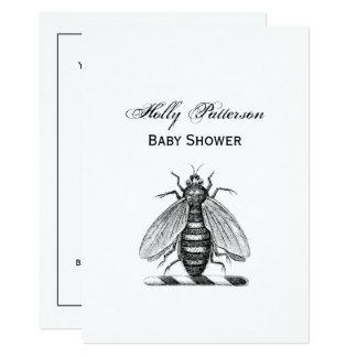Cartão Emblema heráldico formal da brasão da abelha do