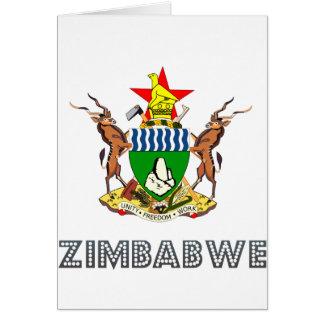 Cartão Emblema zimbabuense