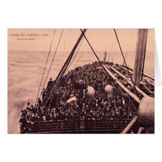 Cartão Emigrantes 1910 de Hamburgo Amerika Linie