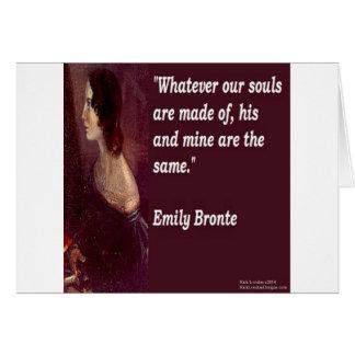 Cartão Emily Bronte & famoso nossas citações das almas