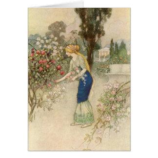Cartão Emily no jardim -