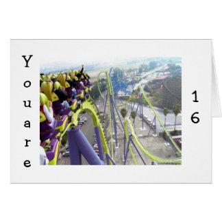 Cartão EMOÇÕES da MONTANHA RUSSA PARA As pessoas de 16