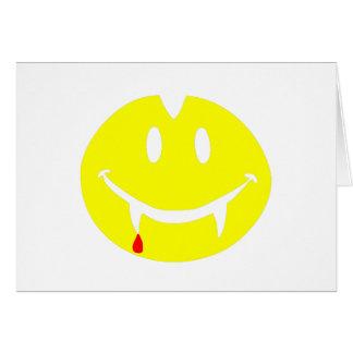 Cartão emoji dracula do vampiro
