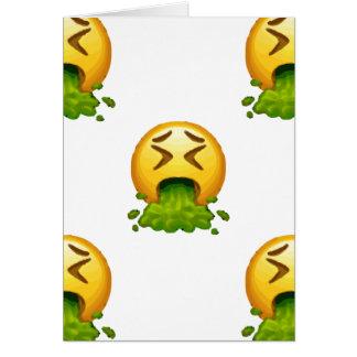 Cartão emoji que puking
