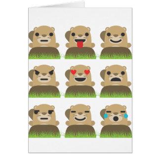 Cartão emojis do groundhog