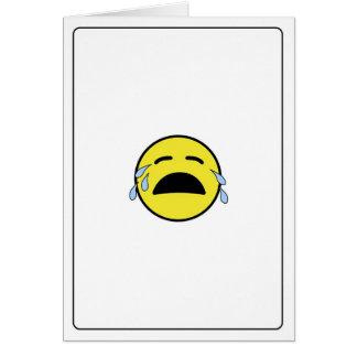 Cartão Emoticon - eu sou pesaroso!