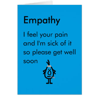 Cartão Empatia - um engraçado obtem o poema bom