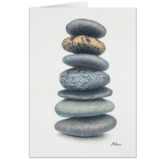 """Cartão empilhado da """"fortaleza"""" das pedras"""