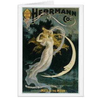 Cartão Empregada doméstica do ~ de Herrmann do ato do