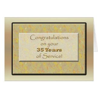 Cartão Empregado 35 anos de serviço ou de aniversário