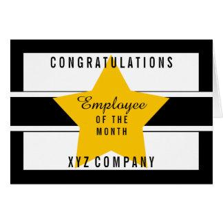 Cartão Empregado dos parabéns da estrela do vazio do mês