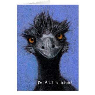 Cartão EMU: Eu sou UM POUCO TIQUETAQUEEI: ESQUECEU SEU