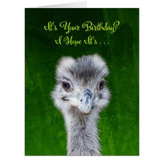 Cartão Emu - tenha um aniversário de Emusing