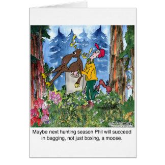 Cartão Encaixotando um alce