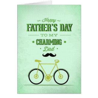 Cartão encantador do dia dos pais